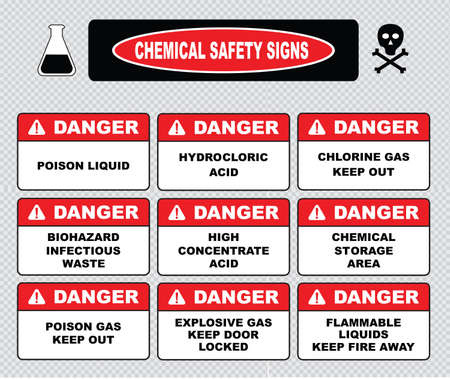Chemical safety signs caustic hazard toxcid chemicals battery acid chemical spill inhalation hazard vapors toxcid irritant avoid skin contact corrosive wear goggles rubber gloves hazardous.