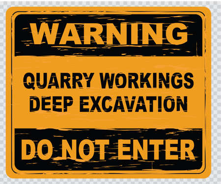 quarry: quarry workings deep excavation easy to remove scratch Illustration