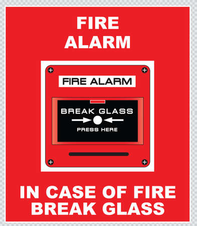 hazard damage: Fire Alarm fire alarm break glass press here fire exit for emergency use only emergency exit do not block fire extinguisher easy to modify