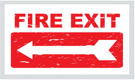 hazard damage: Emergency Exit or FIre exit in vintage style. easy to remove scratch.