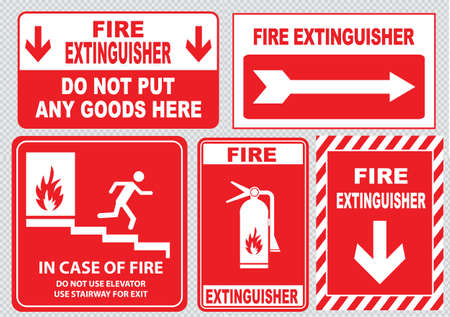 activate: Set Of Fire Alarm fire exit emergency exit only keep area clear at all time fire extinguisher fire equipment protection do not put any goods in this area. easy to modify.