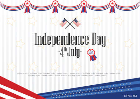 modern independence day background or independence backdrop for presentation or printing. easy to modify.  イラスト・ベクター素材
