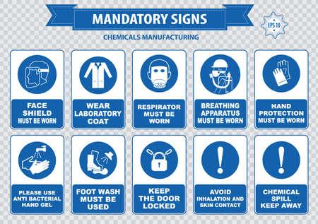 danger chimique: Chimique ou m�dical signe obligatoire cheveux contenait des gants corrosifs bottes lunettes de s�curit� gaz explosif pas de flamme nue risque chimique poison pour respirer du gaz peau appareils �viter de contact