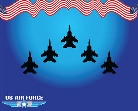the air attack: air force illustration Illustration