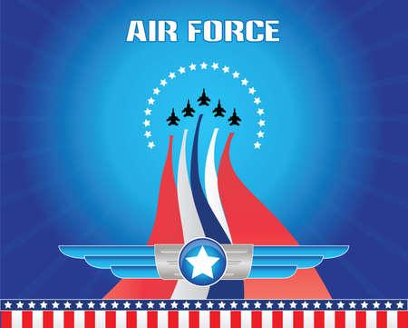 Armée de l'air illustration Banque d'images - 40613299