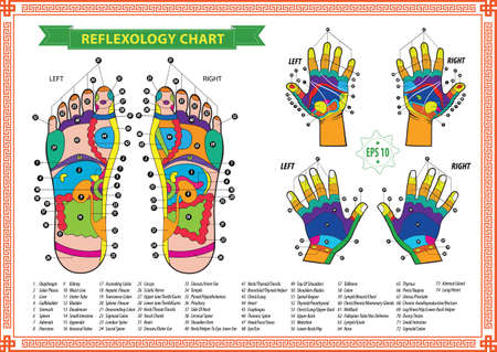 foot spa: reflexology chart