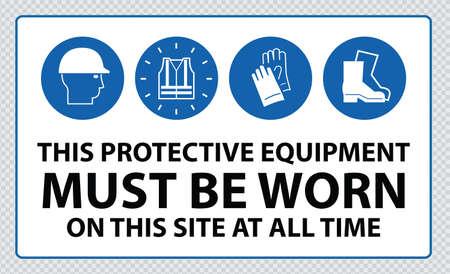 Construction Site Mandatory Signs Illustration
