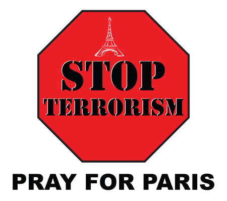 pray: pray for Paris Çizim