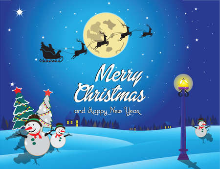 modify: merry christmas and happy new year background. suitable for printing, postcard, poster, cover. easy to modify Illustration