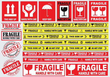 Fragile Sticker sign. easy to modify 免版税图像 - 52492014