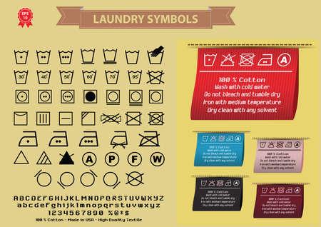 modificar: símbolos o símbolos de lavado de lavandería. fácil de modificar