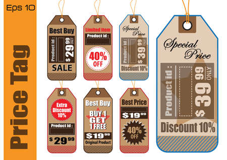paper product: Set Of Sale Tag or Sale Labels for fashion, product, gift, another marketing on-line, and another paper. easy to modify