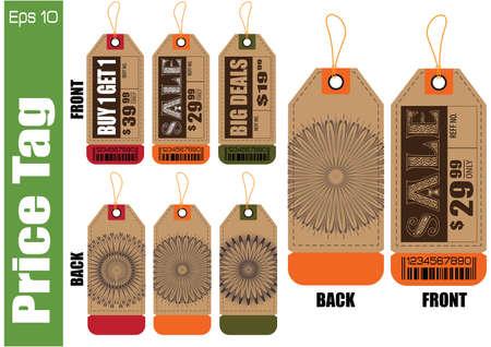 Conjunto de venta de etiquetas o etiquetas de venta para la moda, producto, regalo, otro de marketing en línea, y otro papel. fácil de modificar Ilustración de vector