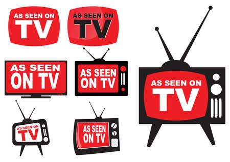 Kolekcja ikony jak widać na TV, łatwe do modyfikacji