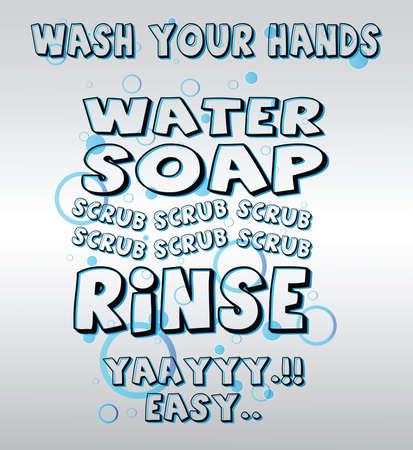 Wash Your Hands Signs Vettoriali