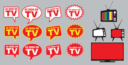 television aerial: Collection of as seen on TV icon, easy to modify