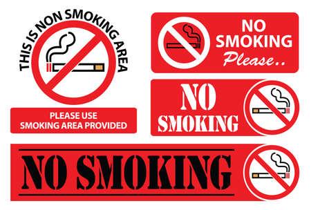 modify: no smoking sign, easy to modify Illustration
