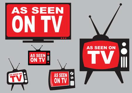 Collection comme vu sur l'icône TV, facile à modifier Vecteurs