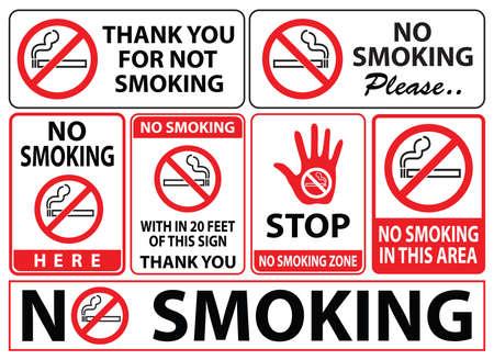 Muestra de no fumadores, fácil de modificar