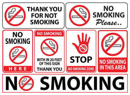 modify: no smoking sign, easy to modify Illustration