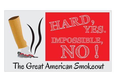 modify: Great American Smoke Out, for poster and background. easy to modify