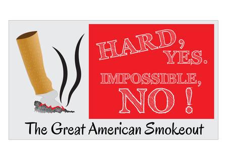 modificar: Great American Smoke Out, para el cartel y el fondo. fácil de modificar
