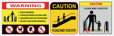 set of elevator or escalator sign. easy to modify