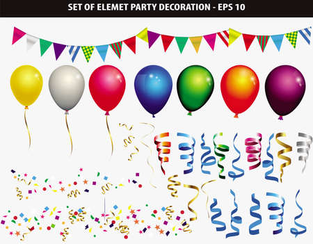 Set of element party decoration-easy to modify
