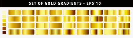 set of gold gradient. easy to modify Illustration