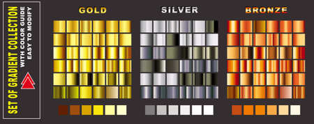 set of gradient collection with color guide. easy to modify
