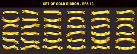 set of gold ribbon. easy to modify