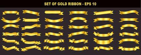 set of gold ribbon. easy to modify