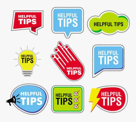Snelle tips banner of help full banner voor het afdrukken van boeken, tijdschriften, websites en ander materiaal. gemakkelijk aan te passen