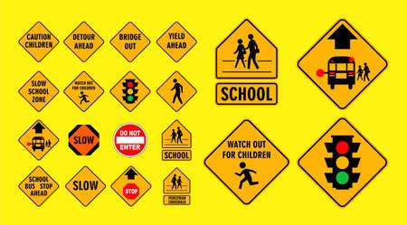 set of cross street school sign.easy to modify