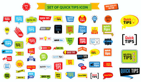 Quick tips banner or help full banner for books, magazine, website and other material printing. easy   to modify Illustration