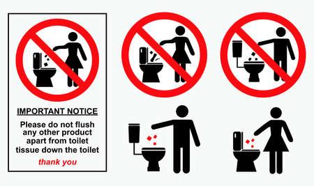 Satz von sanitären Zeichen. einfach zu ändern