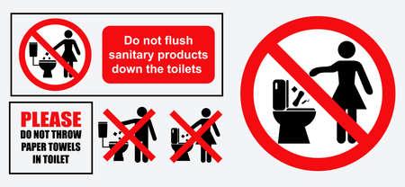 set van sanitair teken. gemakkelijk aan te passen