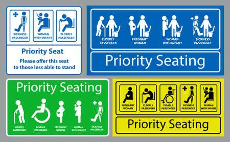 Priority seat sticker