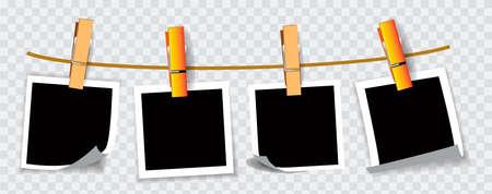 ensemble de cadre photo suspendu, pour portrait, photo, message ou autre. facile à modifier