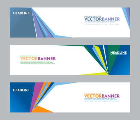 Set of banner design, for web banner, brochure, fyler, book cover and other concept printing design. easy to modify Vektoros illusztráció
