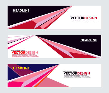 Set of banner design, for web banner, brochure, fyler, book cover and other concept printing design. easy to modify