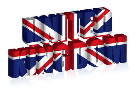 3d uk text or background of united kingdom flag art. easy to modify --
