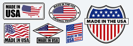 set of made in usa label for retail product or fabric items. easy to modify