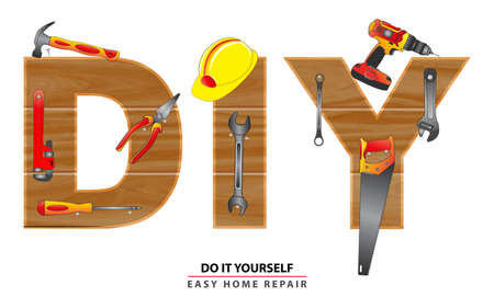 do it yourself concept, or set of hand tools. easy to modify
