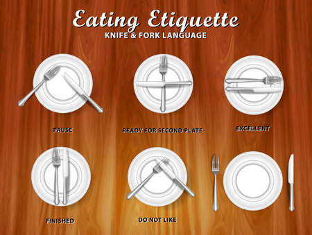 set of realistic knife fork and spoon, in dinner concept. easy to modify