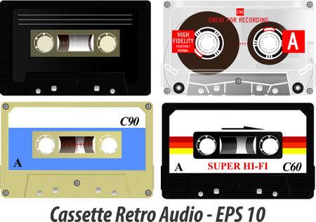 set of cassette retro audio. easy to modify