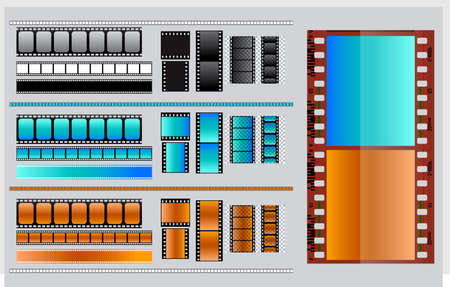 set of blank film strip. easy to modify