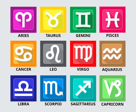 set of zodiac horoscope collection. easy to modify