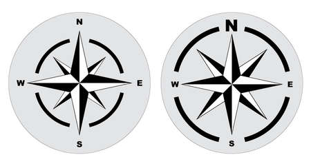 set of compass or north arrow concept. easy to modify