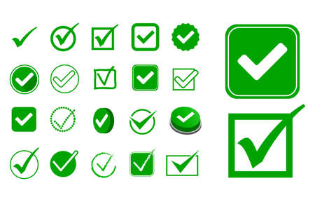 set of check mark or wrong and right sign option concept. easy to modify 向量圖像